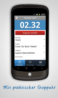 Screenshot Android Zeiterfassung App